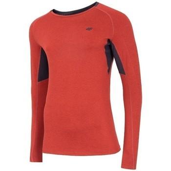 Kleidung Herren Langarmshirts 4F TSMLF002 Orangefarbig