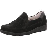 Schuhe Damen Slipper Waldläufer Slipper 812502 812502-259-001 schwarz