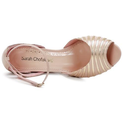 Sarah Chofakian LA PARADE Rose / Goldfarben  Schuhe Sandalen / Sandaletten Damen 145