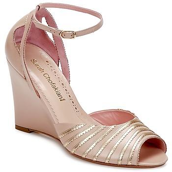 Sandalen / Sandaletten Sarah Chofakian LA PARADE Rose / Goldfarben 350x350