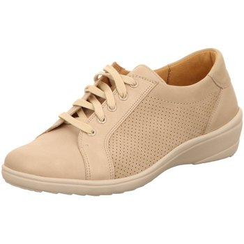Schuhe Damen Sneaker Low Ganter Schnuerschuhe Helga 208839 beige