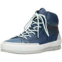Schuhe Damen Sneaker High Wolky Stiefeletten Bromo 01925 blau