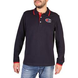 Kleidung Herren Langärmelige Polohemden Champion - 214462_BS Blau