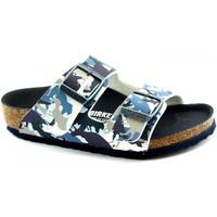 Schuhe Jungen Pantoffel Birkenstock BIR-RRR-1012682-BL Blu
