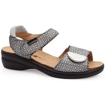 Schuhe Damen Sandalen / Sandaletten Calzamedi SANDAL IM FRISCHEN STIL SCHWARZ