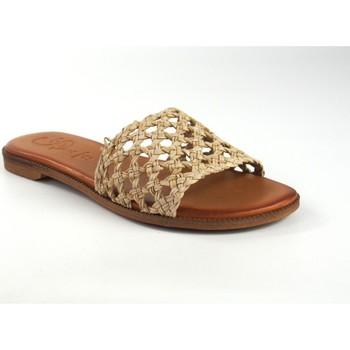 Schuhe Damen Pantoffel Csy Damensandale CO & SO 5020 beige Weiss