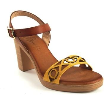 Schuhe Damen Sandalen / Sandaletten Csy Lady Sandale CO & SO h050 Senf Gelb