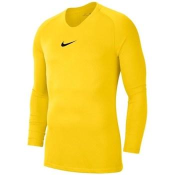 Kleidung Jungen Langarmshirts Nike JR Dry Park First Layer Gelb