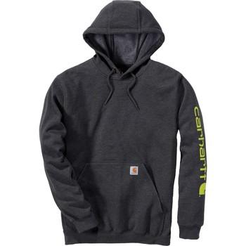 Kleidung Sweatshirts Carhartt Sweatshirt à capuche  Logo gris carbone