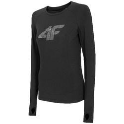 Kleidung Damen Langarmshirts 4F TSDLF001 Schwarz