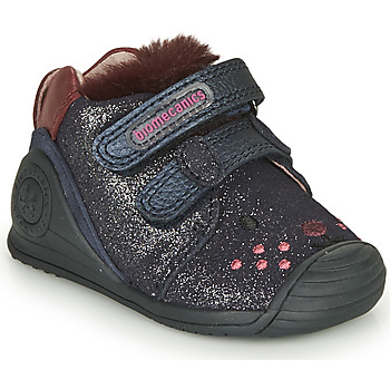 Schuhe Mädchen Sneaker Low Biomecanics BOTIN ELASTICO Marine