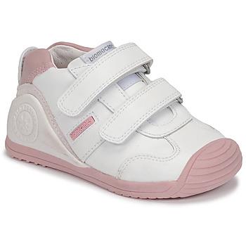 Schuhe Mädchen Sneaker Low Biomecanics BIOGATEO SPORT Weiss / Rose
