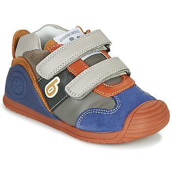 Schuhe Jungen Sneaker Low Biomecanics ZAPATO SPORT VELCRO Grau / Blau / Orange