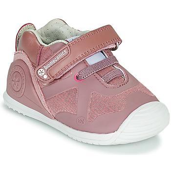 Schuhe Mädchen Sneaker Low Biomecanics ZAPATO ELASTICO Rose