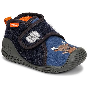 Schuhe Kinder Hausschuhe Biomecanics ZAPATILLA TWIN Grau / Blau