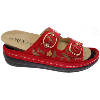 Schuhe Damen Pantoffel Calzaturificio Loren LOB5021ro rosso