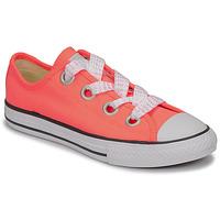 Schuhe Mädchen Sneaker Low Converse CTAS BIG EYELET OX LAVA GLOW/WHITE/BLACK Rose