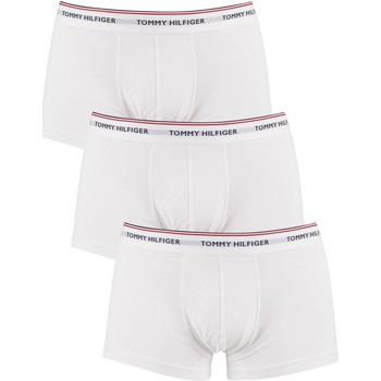 Unterwäsche Herren Boxershorts Tommy Hilfiger 3er Pack Premium Essentials Low Rise Trunks wei