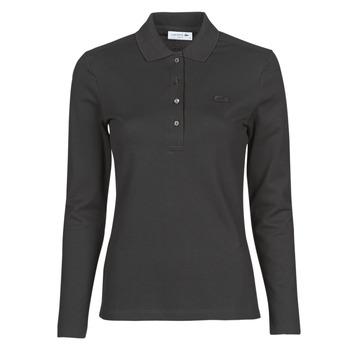 Kleidung Damen Langärmelige Polohemden Lacoste PF5464 Schwarz