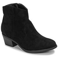 Schuhe Damen Boots Moony Mood NINITE Schwarz
