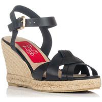 Schuhe Damen Sandalen / Sandaletten Crab 82006 Schwarz
