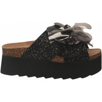 Schuhe Damen Pantoffel Colors of California HIGH SOLE BIO MAXI FLOWER black