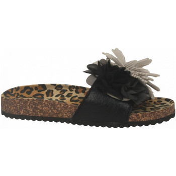 Schuhe Damen Pantoffel Colors of California BIO MAXI FLOWER black