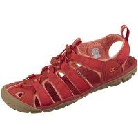 Schuhe Damen Wanderschuhe Keen Sandaletten Clearwater CNX - Rote Sandalette 1022963 rot