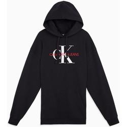 Kleidung Damen Kleider Calvin Klein Jeans washed monogram oversized Schwarz