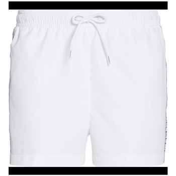 Kleidung Herren Badeanzug /Badeshorts Calvin Klein Jeans drawstring side logo Weiss