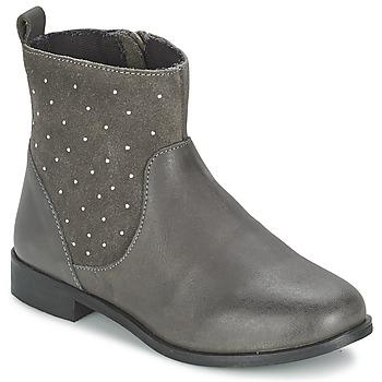 Schuhe Mädchen Boots Citrouille et Compagnie BANMAL Grau