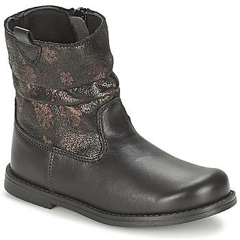 Schuhe Mädchen Klassische Stiefel Citrouille et Compagnie JOUGRI Schwarz