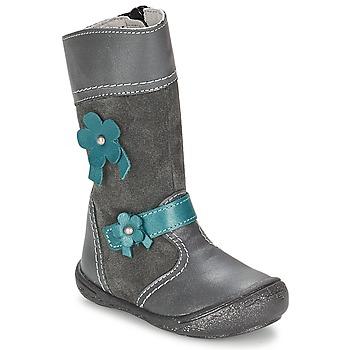 Schuhe Mädchen Klassische Stiefel Citrouille et Compagnie RINDAR Grau