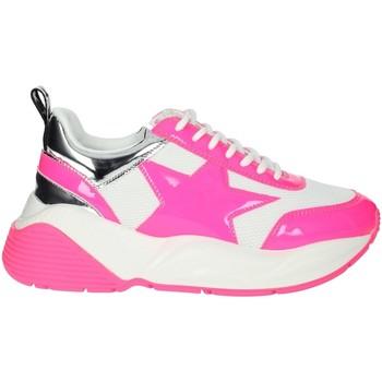 Schuhe Damen Sneaker Low Shop Art SA020044FX Weiss/Fuchsia