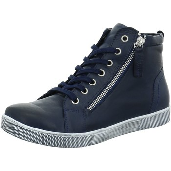Schuhe Damen Sneaker High Andrea Conti Stiefeletten 0340016 017 dkl. blau