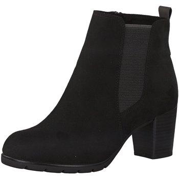 Schuhe Damen Low Boots Marco Tozzi Stiefeletten 2-2-25355-35 2-2-25355-35 schwarz