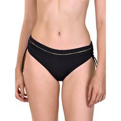 Kleidung Damen Bikini Ober- und Unterteile Lisca Ancona  Geraffte Seitenbadeanzug-Strümpfe Perlschwarz