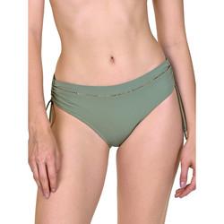Kleidung Damen Bikini Ober- und Unterteile Lisca Seitlich geraffte Badeanzugshose Ancona Dunkelgrün