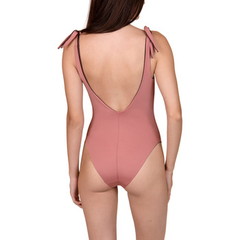 Kleidung Damen Badeanzug Lisca Kea  Cheek ökologischer reversibler drahtloser Violett/oranget