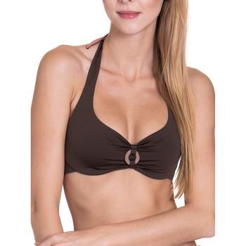 Kleidung Damen Bikini Ober- und Unterteile Lisca Haut de maillot de bain armaturé dos nu réversible Violett/oranget