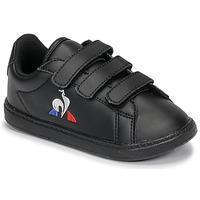 Schuhe Kinder Sneaker Low Le Coq Sportif COURTSET INF Schwarz