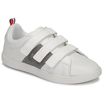 Schuhe Kinder Sneaker Low Le Coq Sportif COURTCLASSIC PS Weiss