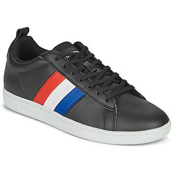 Schuhe Sneaker Low Le Coq Sportif COURTCLASSIC FLAG Schwarz