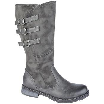 Schuhe Damen Stiefel Cipriata  Grau