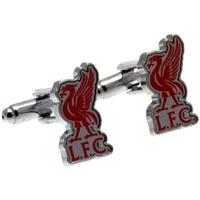 Uhren & Schmuck Herren Manschettenknöpfe Liverpool Fc  Silber/Rot
