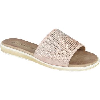 Schuhe Damen Pantoffel Cipriata  Roségold