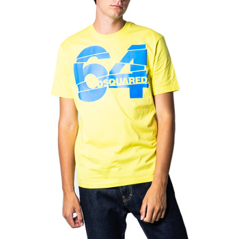 Kleidung Herren T-Shirts Dsquared S71GD0764 Giallo