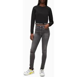 Kleidung Damen Sweatshirts Calvin Klein Jeans milano ls crew neck Schwarz