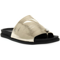Schuhe Damen Pantoffel Sono Italiana LAMINATO PLATINO Grigio