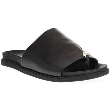 Schuhe Damen Pantoffel Sono Italiana NAPPA NERO Nero